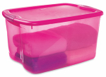 Sterilite 18884X04 Latched Storage Box, Pink, 66-Qt., Must Order in Quantities of 4