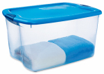 Sterilite 18884404 Latched Storage Box, Blue, 66-Qt., Must Order in Quantities of 4