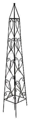 Border Concepts 72862 Wisteria Obelisk 36-In - Quantity 1 Steel Black