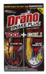 S C Johnson Wax 70241 Snake Plus Drain Cleaning Kit, 16-oz.