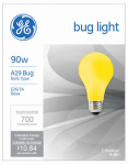 G E Lighting 61435 2-Pack 90-Watt A-Line Bug Light Bulbs