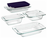 World Kitchen 1093842 Easy Grab Bake Set, Glass/Plastic, 5-Pc.