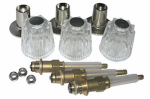 Larsen Supply 01-9455 Price Pfister, Three Valve Windsor Trim Set With Stems