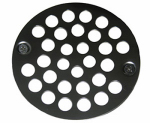 Larsen Supply 03-1371 Shower Drain Grate 4 Inch, With Two Screws Chrome Plated