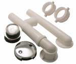 Larsen Supply 03-4955 Bathtub Waste And Overflow Assembly, PVC, Chrome, 1.5-In.