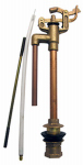 Larsen Supply 04-4011 Toilet Ballcock Anti-Syphon Brass Import 09 Mansfield Style Replacement With Float Rod,Refill Tube And Nut