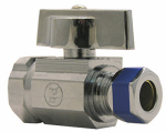 Larsen Supply 06-9271 Angle Stop Valve, 1/4-Turn, Chrome, 3/8 FPT x 3/8-In. Compression Outlet