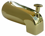 Larsen Supply 08-1059 Bathtub Diverter Spout, Polished Brass