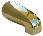 Larsen Supply 08-1103 Bathtub Spout, Polished Brass