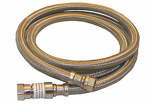 Larsen Supply 10-0970 Faucet Connector, Stainless Steel, 3/8 Compression x 3/8 Compression x 12-In.