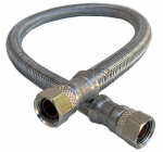 Larsen Supply 10-0976 Faucet Connector, Stainless Steel, 3/8 Compression x 3/8 Compression x 20-In.