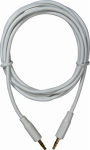 Audiovox AH748R MP3 Audio Cable, White, 3.5mm, 6-Ft.