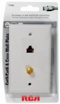 Audiovox TPH557R Coax Wall Plate, Cat5/6