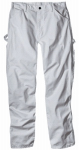 Williamson Dickie Mfg 1953WH4030 Painter's Pants, White Drill Fabric, Men's 40 x 30-In.