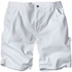 Williamson Dickie Mfg DX400WH32 Painter's Shorts, White Drill Fabric, Men's 32 x 11-In. Inseam