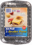 Ez Foil/Reynolds 91855 EZ Foil Broiler Pan, Grease Absorbing, 11-1/4 x  8 x 1-In., 3-Pk.