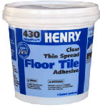 Henry Ww 12097 430 Thin-Spread Floor Tile Adhesive, Clear, 1-Qt.
