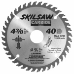 Robert Bosch Tool Group 75540 Carbide Tipped Circular Saw Blade, 40-TPI, 4-3/8-In.