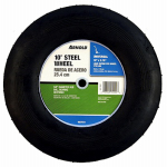 Arnold 10275-B Lawn Mower Wheel, Steel, Universal Replacement, 10-In.