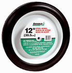 Arnold 1275-B 12-Inch Steel Universal Symmetrical Replacement Lawn Mower Wheel