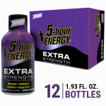 Living Essentials 728127 5-Hour Energy Extra Strength Drink, Grape