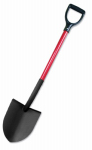 Bully Tools 82510 Shovel, Round Point, Commercial Grade, Fiberglass Handle, 44-In.