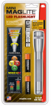 Mag Instrument SP2209H Mini LED Flashlight, 77-Lumens, 4-Function Mode, Grey