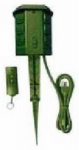 Kab Enterprise SP-039 Outdoor Power Stake, With Remote, 6-Outlet, Green, 6-Ft.