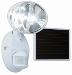 Cooper Lighting MSLED180W LED Solar Flood Light, Motion-Activated, White