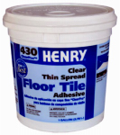 Henry Ww 12098 430 Thin-Spread Floor Tile Adhesive, Clear, 1-Gal.