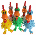 Multipet International 61001 Globkens Chicken Dog Toy, Latex, Assorted Colors