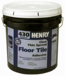 Henry Ww 12102 430 Thin-Spread Floor Tile Adhesive, Clear, 4-Gals.