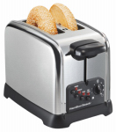 Hamilton Beach Brands 22790 Bagel Toaster, 2-Slice, Chrome