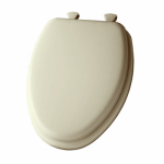 Bemis Mfg 113EC 006 Elongated Cushioned Vinyl Soft Toilet Seat, Easy-Clean & Change  Hinge, Bone