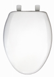 Bemis Mfg 120SLOWE 000 Elongated Plastic Toilet Seat, Whisper-Close , Easy-Clean & Change  STA-TITE  Hinge White