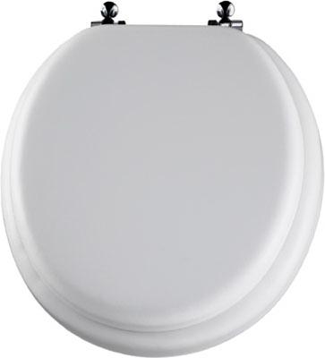 Bemis Mayfair White Round Cushioned Vinyl Soft Toilet Seat