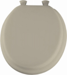 Bemis Mfg 13EC 006 Round Cushioned Vinyl Soft Toilet Seat, Easy-Clean & Change  Hinge, Bone