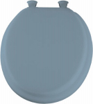 Bemis Mfg 13EC 034 Round Cushioned Vinyl Soft Toilet Seat, Easy-Clean & Change  Hinge, Sky Blue