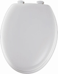 Bemis Mfg 144ECA 000 Elongated Molded Wood Toilet Seat, Easy-Clean & Change  Hinge, White