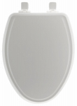 Bemis Mfg 148SLOW 000 Elongated Molded Wood Toilet Seat, Whisper-Close , Easy-Clean & Change  Hinge, STA-TITE , White