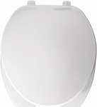 Bemis Mfg 175 000 Elongated Commercial Plastic Open Front, Cover Toilet Seat, Top-Tite  Hinge, White