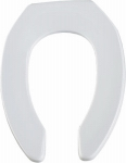Bemis Mfg 1955CT 000 Elongated Commercial Plastic Open Front Toilet Seat, STA-TITE  Hinge, White