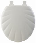 Bemis Mfg 22EC 000 Round Molded Wood Toilet Seat, Easy-Clean & Change  STA-TITE  Hinge, Shell Design, White