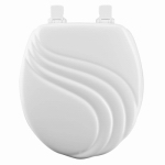 Bemis Mfg 27EC 000 Round Molded Wood Toilet Seat with Easy-Clean & Change  Hinge, Swirl Design