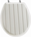 Bemis Mfg 29CP 000 Round Toilet Seat, Cottage Classic, White Wood
