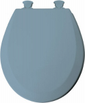Bemis Mfg 46EC 034 Round Molded Wood Toilet Seat, Easy-Clean & Change  Hinge, Sky Blue