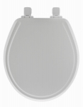 Bemis Mfg 48SLOW 000 Round Molded Wood Toilet Seat, Whisper-Close  Easy-Clean & Change  STA-TITE  Hinge, White
