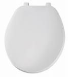 Bemis Mfg 92B 000 Round Plastic Toilet Seat, White