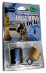 Conservco Water Conservation DSL-1 Hose Bibb Lock, Brass & Chrome, 3/4-In. Hose