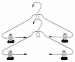 Whitmor 6021-182 Add On Skirt & Slack Hanger, Ebony Chrome, 2-Pk.